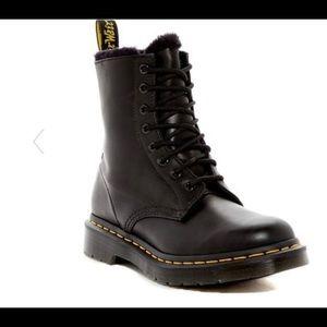 Doc Martens Serena Fur Lined Boots Sz 8